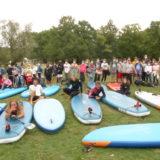 champions et collégiens réunis à l'île aux Pies, Bains sur Oust Pays de Redon mercredi 23 septembre 2020