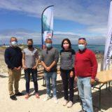 les élus du surf et la députée, Liliana Tanguy samedi à l'Open France La Torche
